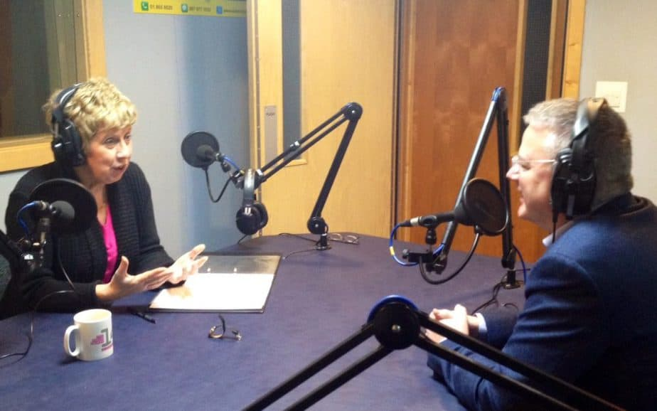 Paul Davis being interviewed by Ellen Gunning, Dublin City FM